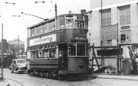 87 route 36 to Abbey Wood @ Beresford Sq , post-war