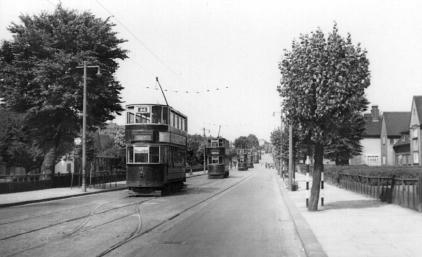 92 route 44 to Beresford Sq following 5 others in Well Hall Rd 1951