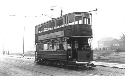 95 on Aldgate serv, early post-war