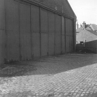 Bulverhythe Depot track in doorway 26-4-1967 [1]