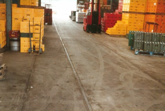 Bulverhythe Depot track in floor 2-3-1984