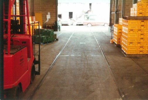 Bulverhythe Depot track in warehouse 2-3-1984