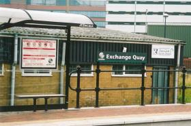 Exchange Quay stn, shelter & name board