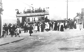 First tram in Mt Pleasant 7-1905