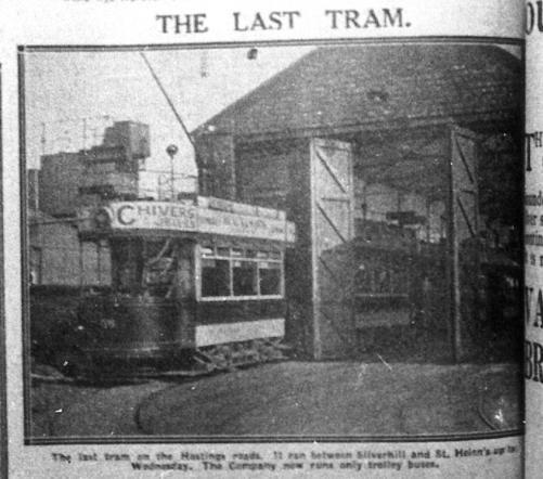 Last tram running @ depot H&StLeo Obs 30-3-1929
