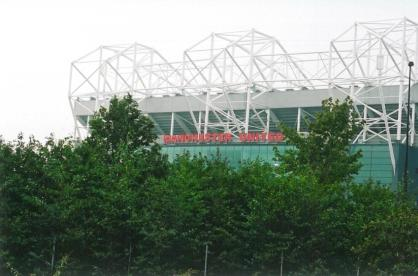 MU stand, Old Trafford, end portion