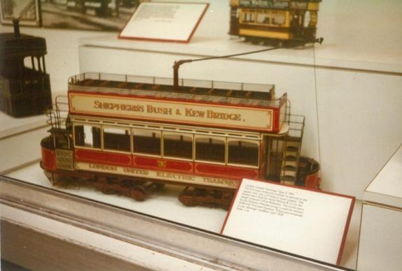 Model LUT open top double bogie vehicle, Covent Garden Mus 17-9-1983