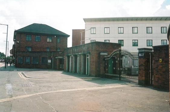 Old Trafford cricket groud entrance, Warwick Rd