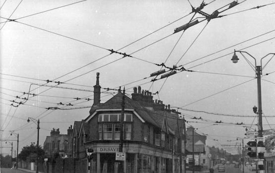 Silverhill junc trolley wires 30-5-1959
