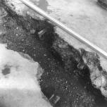 Track in trench, Bexhill-Bulverhythe Rds 30-9-1975 [3]