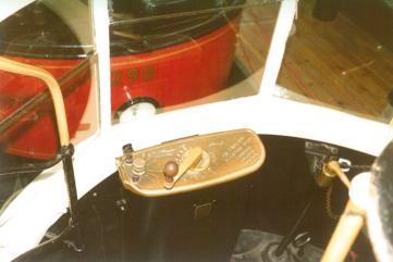 Tram controller & handbrake, Covent Garden Mus 17-9-1983