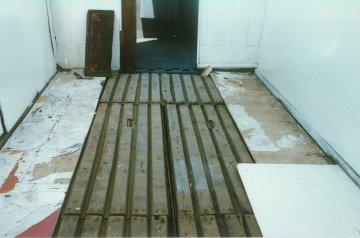 Tramcar body floor hatch detail 16-7-1995