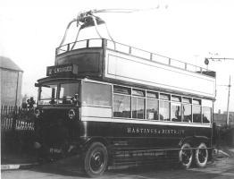 Trolley 2 DY4954 in depot year 1928