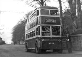 Trolley 45 BDY 820 serv 6 to Hollington @ St Helens 5-4-1953