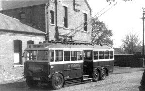 Trolley 49 Silverhill Depot front & nearside c1928