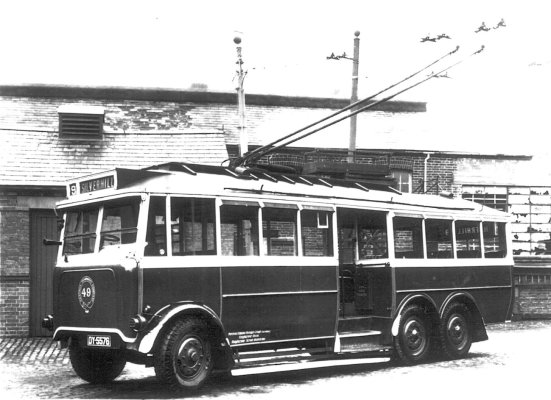 Trolley 49 Silverhill Depot when new c1928
