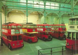 Trolleybuses, RT, STL buses & Feltham tram, Covent Garden LT Mus