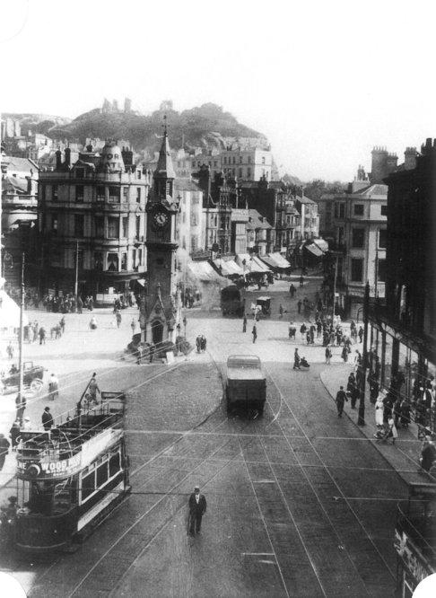 Two trams, Memorial undated