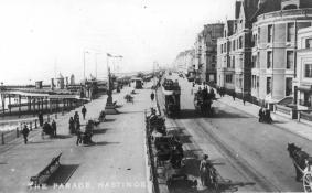 Westbound tram White Rock Parade c1910