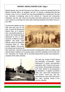 BEXHILL ROWING CLUB—Page 1