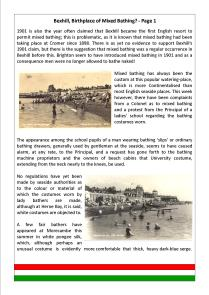 Bexhill, Birthplace of Mixed Bathing - Page 1