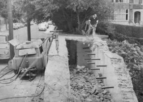 Air Raid Shelter in Wickham Avenue being demolished August 1965