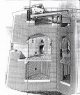 A cross-section of the construction of a Martello tower –there were slight variationsbut this is typical.