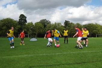 Practice game at pre-Season training