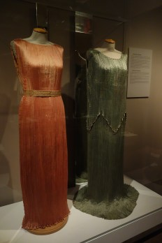 Dresses by Mariano Fortuny at the Museo Salvatore Ferragamo