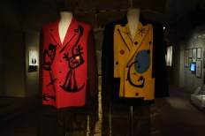 Men's jackets by Yohji Yamamoto inspired by Joan Miro at the Museo Salvatore Ferragamo