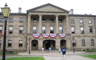 Province House - where the provincial parliament of PEI meet