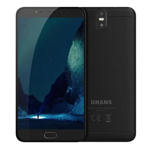 banggood UHANS Max 2 MTK6750T 1.5GHz 8コア BLACK(ブラック)