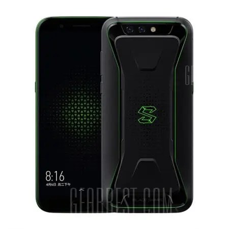 gearbest Xiaomi Black Shark Gaming Phone Snapdragon 845 SDM845 2.8GHz 8コア BLACK(ブラック)