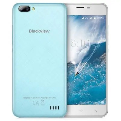 gearbest Blackview A7 3G MTK6580A 1.3GHz 4コア BLUE(ブルー)
