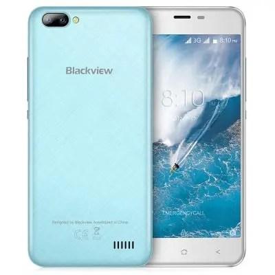 gearbest Blackview A7 3G MTK6580A 1.3GHz 4コア BLUE(ブルー)