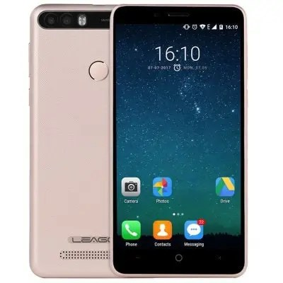 gearbest LEAGOO KIICAA POWER 3G MTK6580A 1.3GHz 4コア CHAMPAGNE(シャンペン)