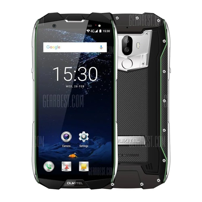 gearbest Oukitel WP5000 MTK6757T Helio P25 2.5GHz 8コア GREEN(グリーン)