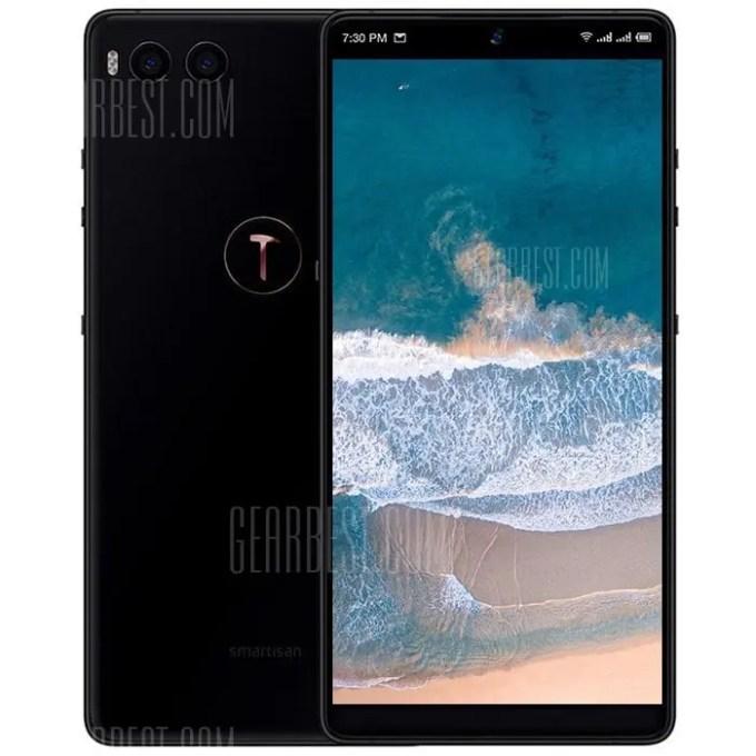 gearbest Smartisan Nut R1 Snapdragon 845 SDM845 2.8GHz 8コア BLACK(ブラック)