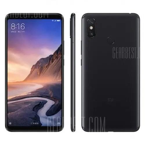 gearbest Xiaomi Mi Max 3 Snapdragon 636 SDM636 8コア BLACK(ブラック)