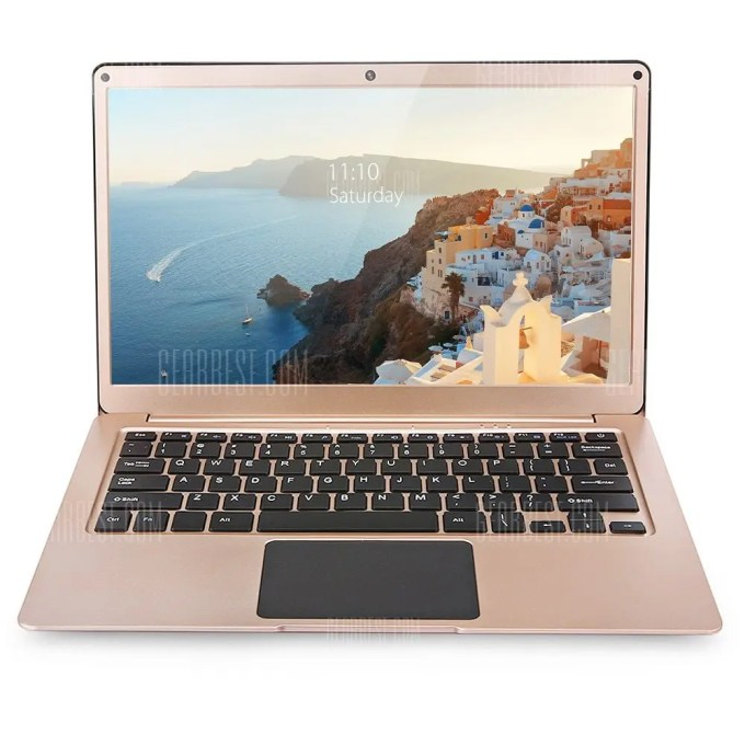 gearbest YEPO 737A Laptop Apollo Lake Celeron N3450 1.1GHz 4コア GOLD(ゴールド)