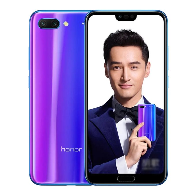 geekbuying Huawei Honor 10 Kirin 970 2.4GHz 8コア BLUE(ブルー)
