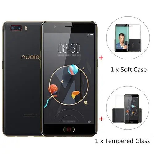 geekbuying Nubia M2 Snapdragon 625 MSM8953 2.0GHz 8コア BLACK(ブラック)パッケージ