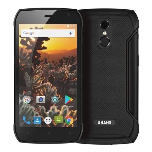 geekbuying UHANS K5000 MTK6753 1.3GHz 8コア BLACK(ブラック)