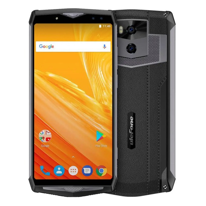 geekbuying Ulefone Power 5 MTK6763 Helio P23 2.0GHz 8コア BLACK(ブラック)