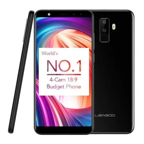 tomtop LEAGOO M9 3G MTK6580A 1.3GHz 4コア BLACK(ブラック)