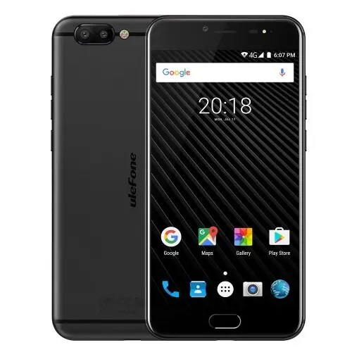 tomtop Ulefone T1 MTK6757T Helio P25 2.5GHz 8コア BLACK(ブラック)