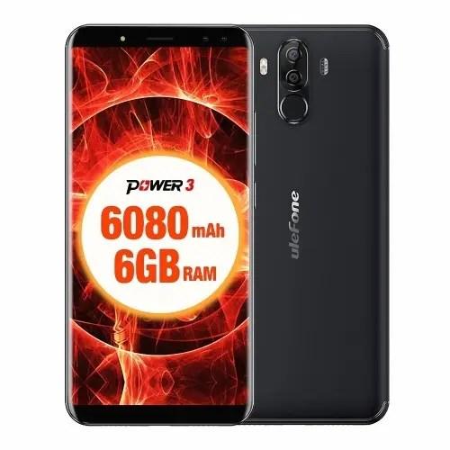 tomtop Ulefone Power 3 MTK6763 Helio P23 2.0GHz 8コア BLACK(ブラック)