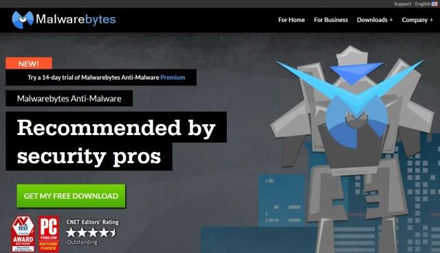 Malwarebytes Anti-Malwareのサイト