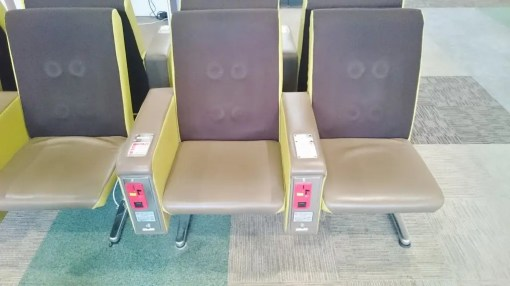 古いマッサージ椅子