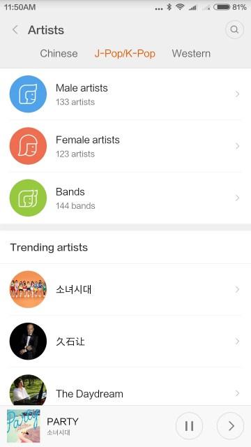 J-POP,K-POPもあった、Girls generation(少女時代)や久石 譲